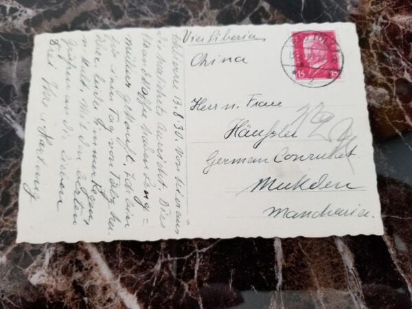 1930 Bad Tolz Germany Rppc Postcard Cover German Consul Mukden China Manchuria