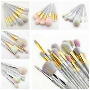 pretty makeup brushes iridescent sparkly makeup brush set