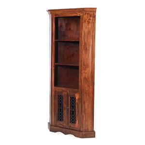 Image Is Loading Jali Sheesham Corner Display Cabinet Dining Room Solid