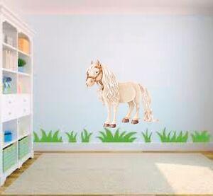 Creme pony pferd Cartoon Mädchen Kinderzimmer Kinder Schlafzimmer | eBay