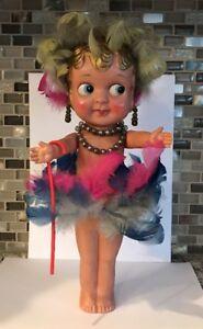 "Antique VintageCelluloid Carnival Kewpie Doll Rare 12"" Occupied Japan Near Mint"