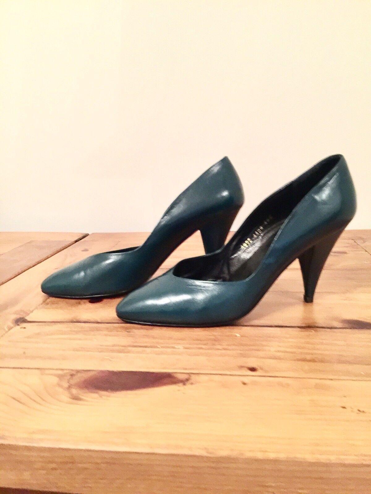 Russel & Bromley Dark Teal Leder Schuhes , Größe UK 6,5 - EUR 39,5