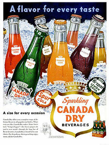 Vintage-Canada-Dry-Ad-Replica-11-x-14-034-Photo-Print