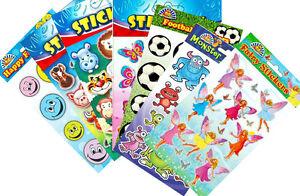 Kids-Stickers-Rewards-Crafts-Football-Animals-Farm-etc-Party-Bag-Fillers