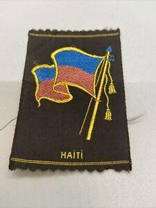 Vintage Haiti Tobacco Silk The American Tobacco Co. Silk Flag Premium 3x2