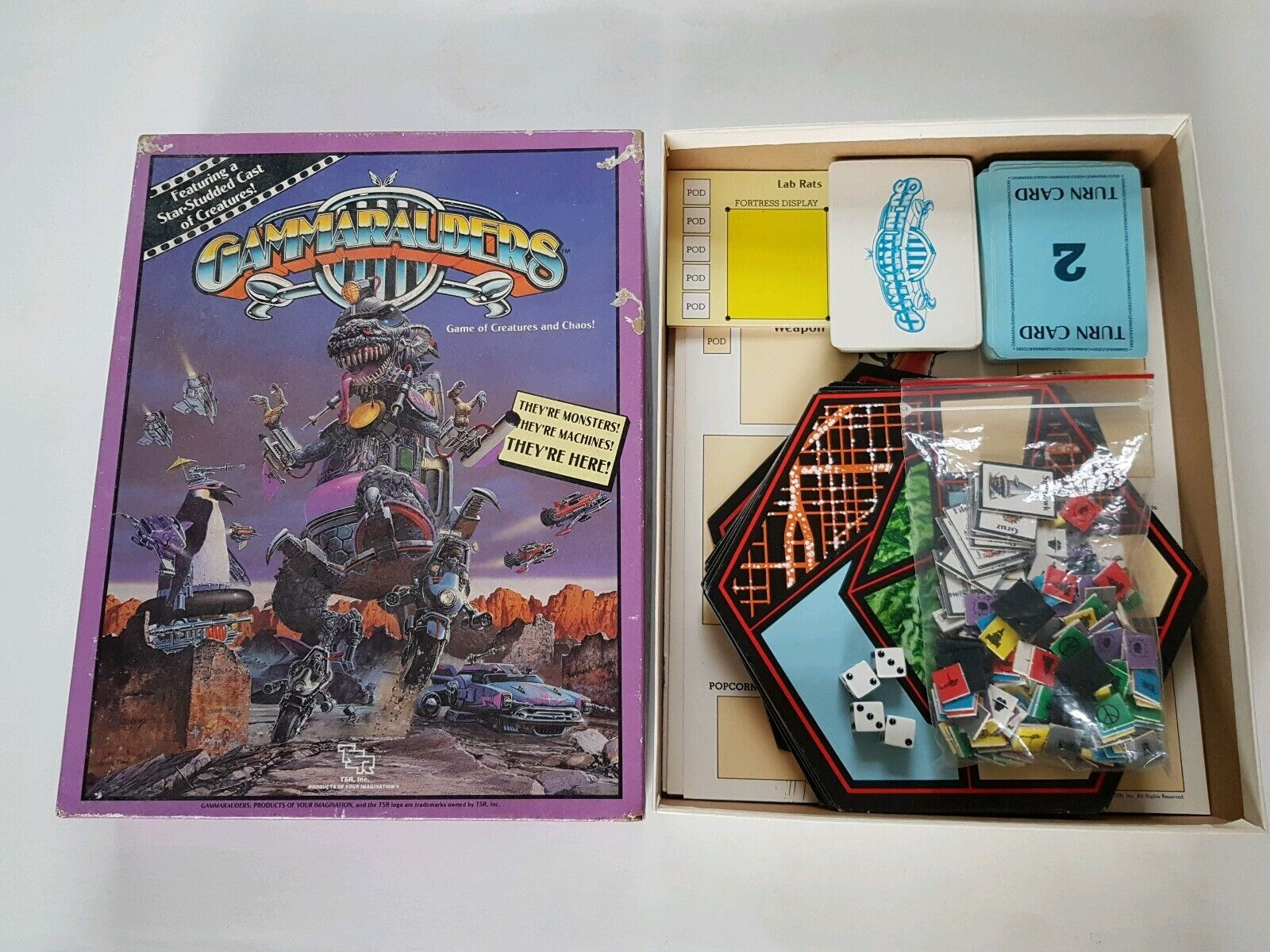 Gammarauders Game of Creatures and Chaos by TRS Complete rare boxed