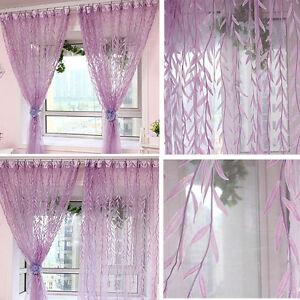 Vorhange Willow Muster Garn Fenster Dekoration Gardinen Lila