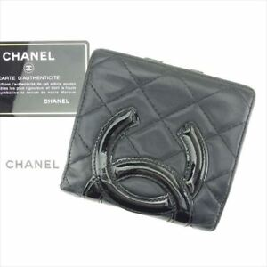 620fcd3d7896 Image is loading Chanel-Wallet-Purse-Coin-purse-Cambon-line-Black-