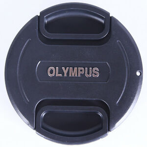 77-mm-Snap-On-Front-Lens-Cap-Cover-Center-Pinch-with-String-for-Olympus-Camera