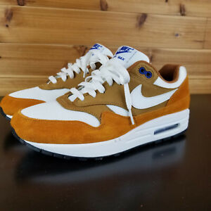Nike-Air-Max-1-Premium-Retro-034-Curry-034-Dark-Curry-White-Mens-Shoes-908366-700