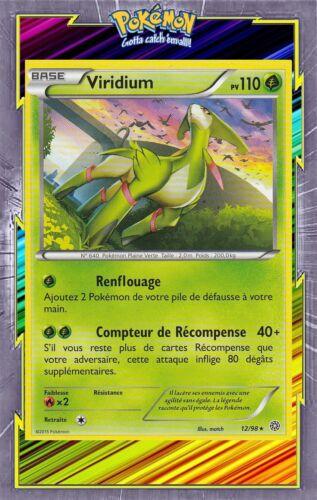 12//98 Viridium Carte Pokemon Neuve Française XY7:Origines Antiques