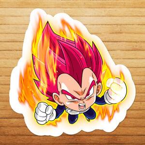 Dragon-Super-Saiyan-God-Vegeta-Chibi-Die-Cut-Wall-Car-Window-Decal-Sticker