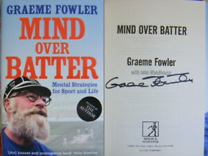 Signed-Book-Mind-over-Batter-by-Graeme-Fowler-Hardback-1st-Edition-2019-Cricket