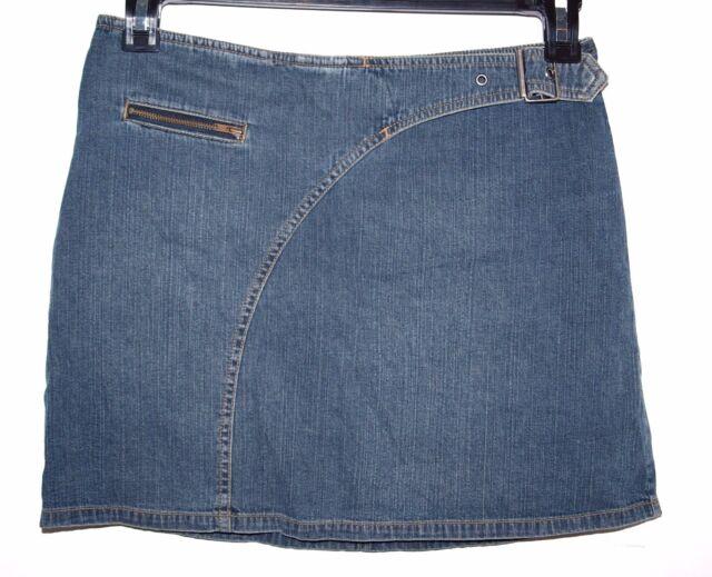 Jacob Size 5/6 Womens Denim Skirt with Adjustable Belt