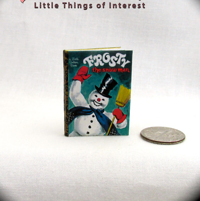 FROSTY THE SNOWMAN 1:6 Scale Illustrated Readable Miniature Book Playscale