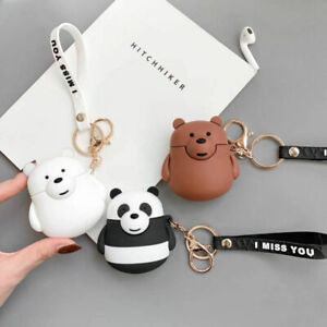 Airpods Case 3d Cute We Bare Bears Strap Shockproof Cover For Apple Earphone Bag Ebay