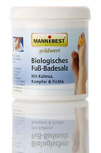 Biologisches-Fussbadesalz-500g-Dose-Mit-Kalmus-Kampfer-amp-Fichte-17603