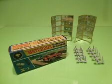 MATCHBOX X-1 MOTORWAY ACCESSORIES - GREY  - GOOD CONDITION IN BOX