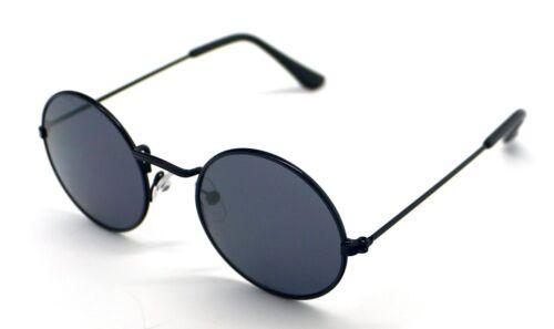 PT Gafas de Sol Hippie Retro Redondas Niño Sunglasses UV400 Espejo Negro