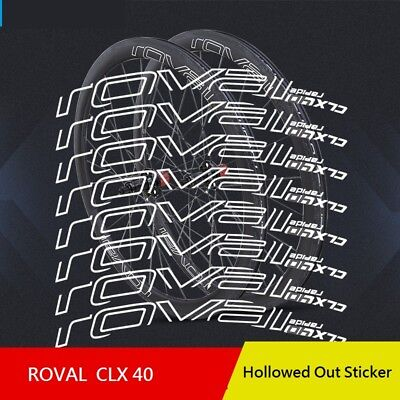 Disc Brake Decals Roval CLX 50 Stickers Set for Two Carbon Wheels Road Bike C