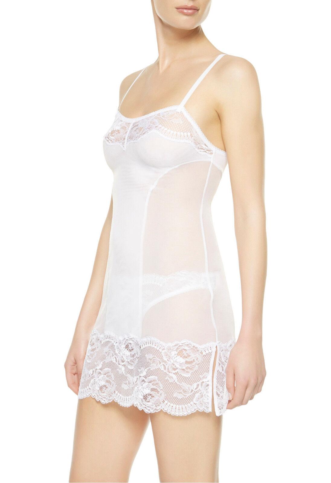 La Perla Begonia M Chemise Slip White Tulle Lace