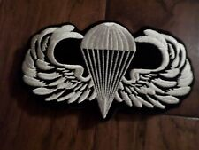 "U.S MILITARY ARMY AIRBORNE JUMP WINGS EMBROIDERED BACK PATCH 4"" X 6 1/2"""