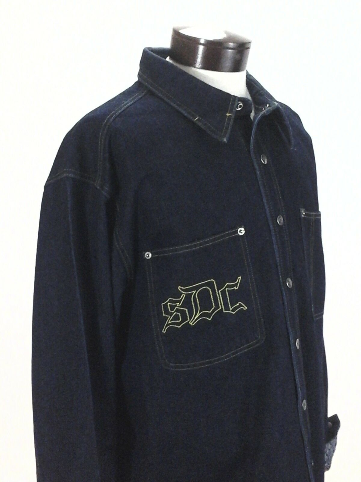 SNOOP DOGG Jeans Denim Shirt Vintage 90's DOGGYSTYLE Sewn Logo bluee Mens XL RARE