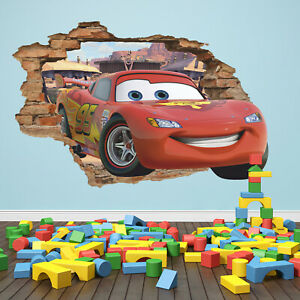 photograph regarding Lightning Mcqueen Printable Decals named Data regarding Disney Automobiles 3D Wall Decal, Lightning Mcqueen Wall Sticker, Radiator Springs