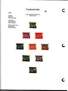 Czechoslovakia-Tchecoslovaquie-timbres-anciens-sur-feuille-lot-532