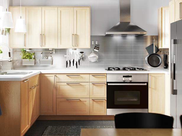 Ikea Bjorket Birch Cabinet Doors Large Sizes For Sektion Kitchen Systems