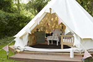 Bell-Tent-4M-Canvas-Tent-Glamping-Tent-Yurts-Beach-Tent-Camping-Tents-Waterproof