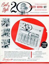"""1960s Vintage BEAUTYMATIC Ad Sales Sheet: """"20 SECOND SET INSTANT HAIR-DO"""""""