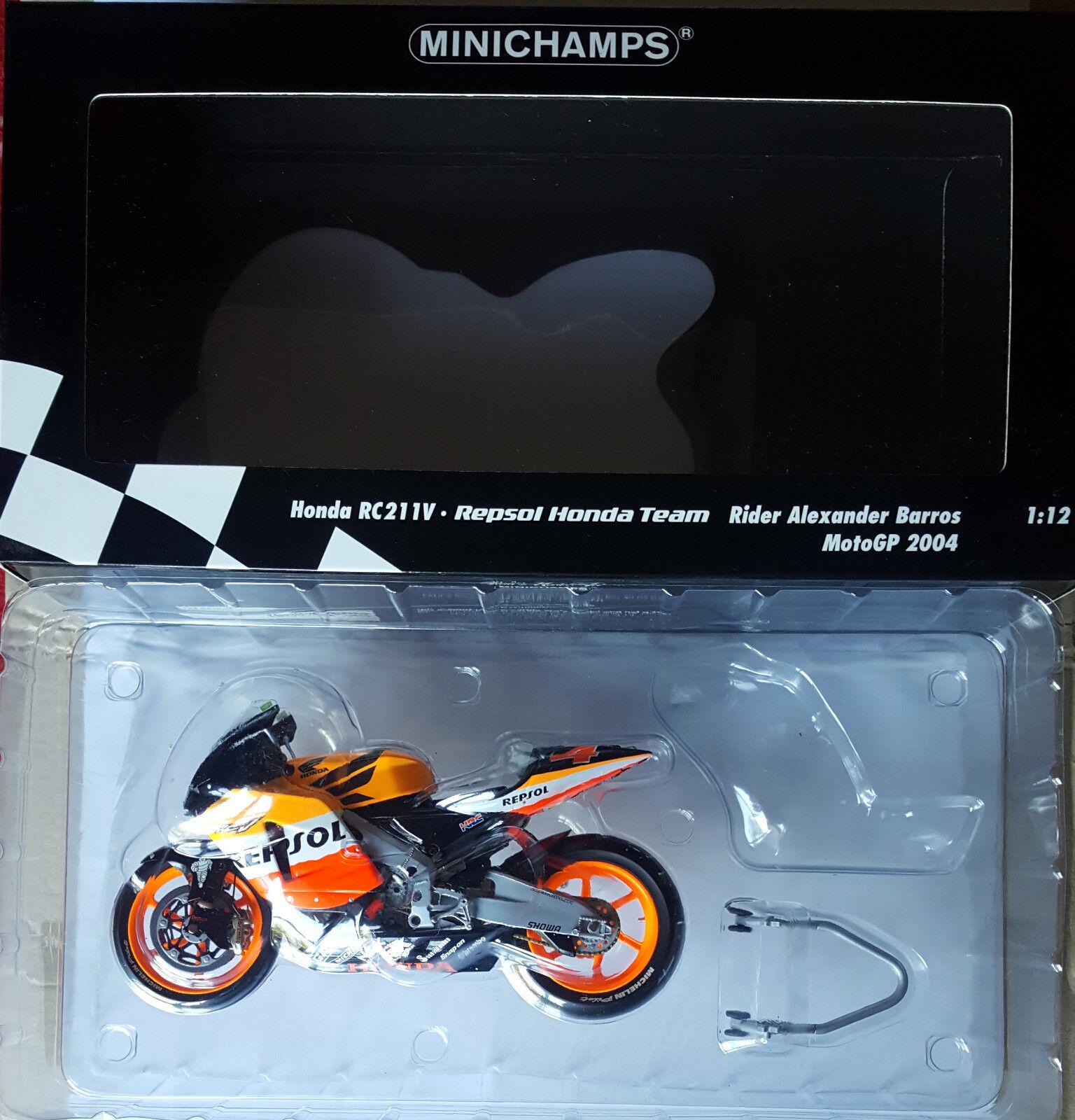 MINICHAMPS  ALEXANDER BARROS RC211V REPSOL HONDA TEAM MOTOGP 2004 1 12