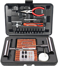 Tire Repair Kit Heavy Duty Plug Car Truck Rv Jeep Flat Patch Puncture Tool 70 Pc