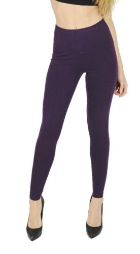 Ladies Full Length Thick Warm Footless Slim Stretch Skinny Leggings Cotton Pants