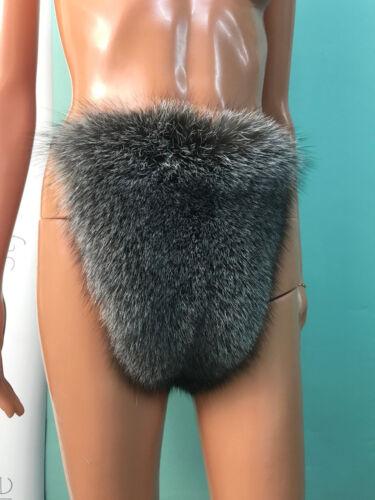 voering Fox herenRex Blauw Frost voor konijn Fur Thong Bikini m0wN8n