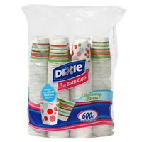 Dixie Bathroom Cold Drink Poly Lined Paper Bath Cup 3 Oz - 600 Cups Disposable