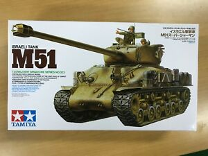 Tamiya-1-35-Military-Miniature-Series-No-323-Israeli-Army-Tank-M51-Super-Shaman