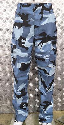"""Midnight Blue Camo Military Style Combat Cargo Trousers - 32""""-36"""" - New Den Speichel Auffrischen Und Bereichern"""