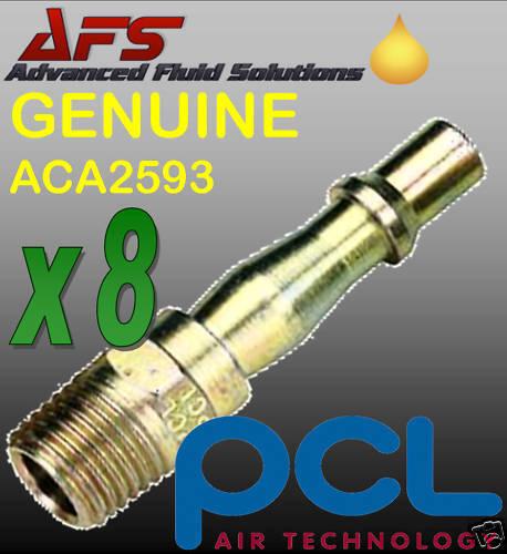 8 X Pcl 1/4 Male Adaptor Probe Air Tool Fitting Aca2593