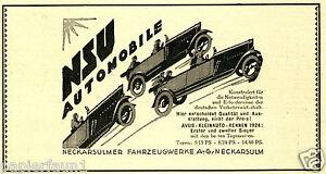 NSU-automobile-cabriolet-Publicite-de-1925-Neckarsulm-Publicite-CAR-AD