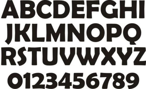 Small Sheet of ABC//NUMBERS Kids Bedroom//Room Wall//Cupboard Stickers Berlin Font