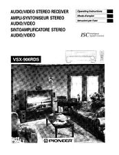 Pioneer VSX-906RDS Receiver Owners Manual