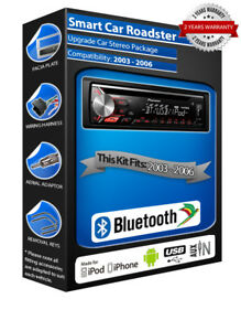 COCHE-SMART-ROADSTER-Reproductor-de-CD-USB-Auxiliar-pioneer
