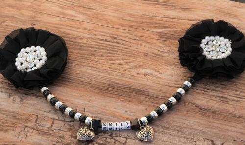 Magnifique landau charme personnalisé en noir pour bébé cadeau idéal