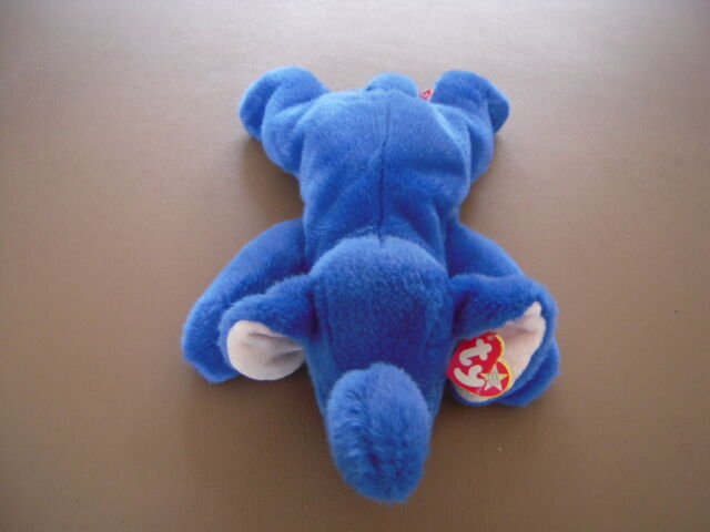 MINT with MINT TAG TY PEANUT the LIGHT BLUE ELEPHANT BEANIE BABY
