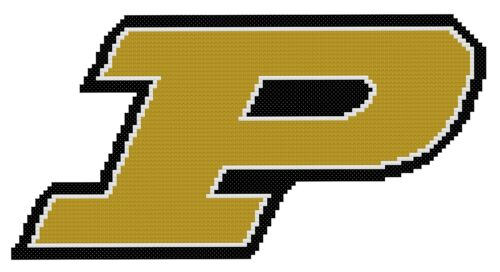 Free US Shipping Purdue Boilermakers Logo Counted Cross Stitch Pattern