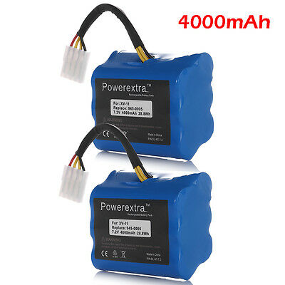 2 x 4000mAh 7.2V Vacuum Battery For Neato XV-11 XV-21 XV-15 XV-14 XV-13 XV-12