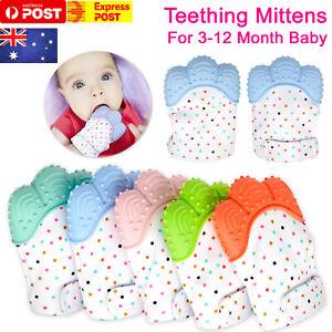 Silicone-Baby-Teether-Teething-Mitt-Mitten-Glove-Safe-BPA-Free-Chew-Dummy-Toy-AU