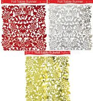 2M FOIL TABLE TOP RUNNER PARTY XMAS CHRISTMAS FESTIVE DECORATION TABLEWARE 9920